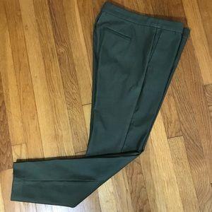 J. Crew Ryder Pant, Size: 10. Color: Olive Green